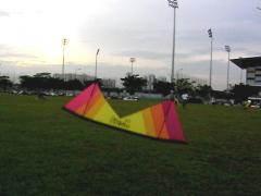 Lee Sedgwick joining the skies in Sengkang Field...