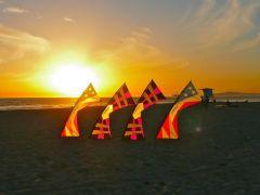 Team Flying At Sunset Huntington Beach.jpg