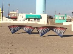 Marshall and Ed's RWB String Art Kites