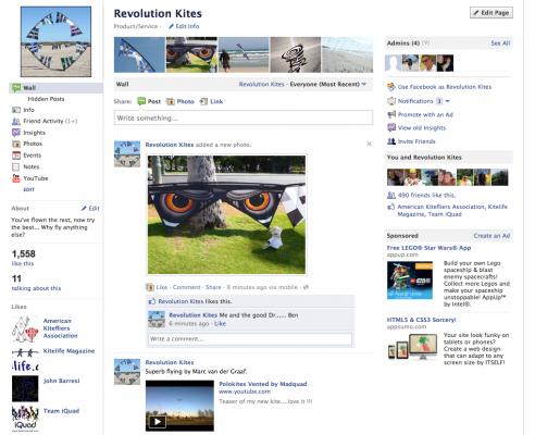 Revolution Kites is on Facebook